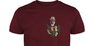 German Shepherd in the box shirt