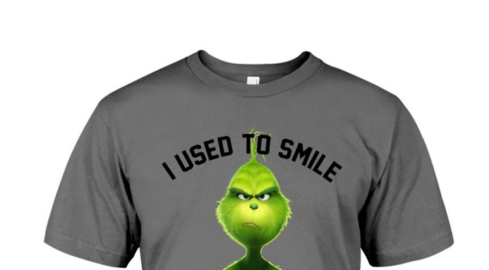 Grinch I used to smile and then I worked at Meijer shirt