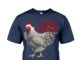 Merry Cluckin' Christmas Chicken Santa's Hat shirt