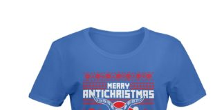 Merry antichristmas satan claus shirt