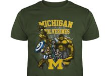 Michigan Wolverines Marvel Heroes shirt
