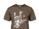 Rock on hand sign Rhinestone Christmas shirt