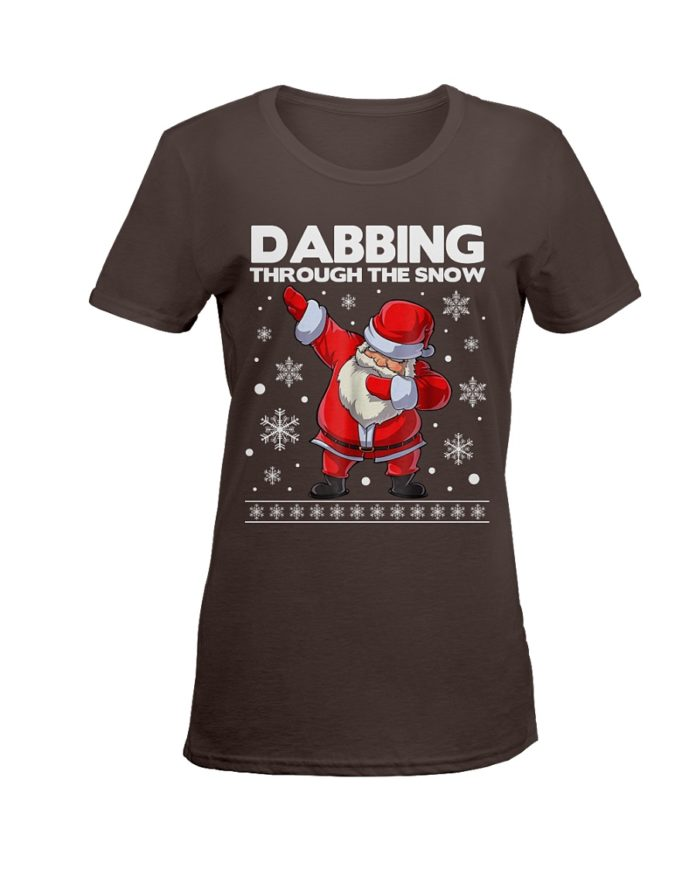 Santa dabbing through the snow shirt
