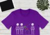 Skeleton Autism Dabbing It's OK to Be A Little Different shirt