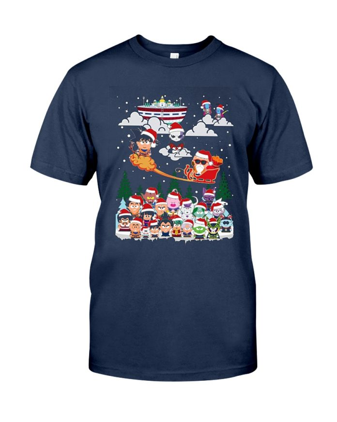 Son Goku and friend chibi Christmas shirt