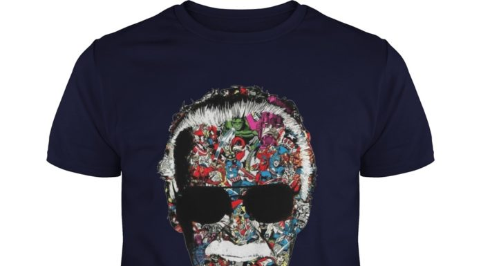 Stan Lee Face All Superheroes shirt