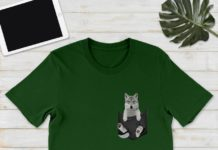 Wolf In Pocket shirt
