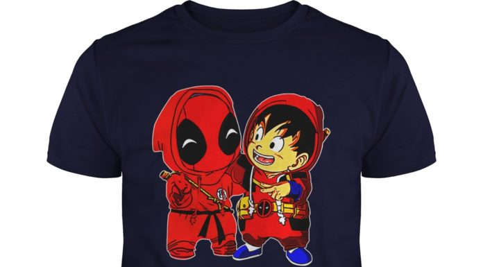 Baby Deadpool and Goku shirt