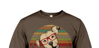 Dog educate don't discriminate retro shirt