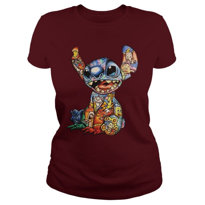 Lilo and Stitch Disney Characters Cross Stitch Pattern shirt
