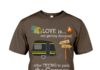 Love is not getting divorced after trying to park the camper shirt