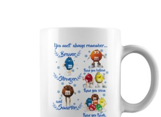 M&M'S You must always remember Braver mug
