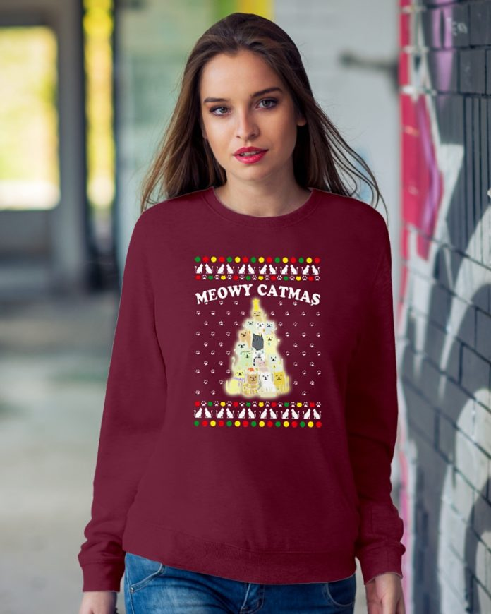 Meowy Catmas Christmas Tree Ugly Sweater