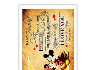 Mickey and Minnie To My Husband Poster