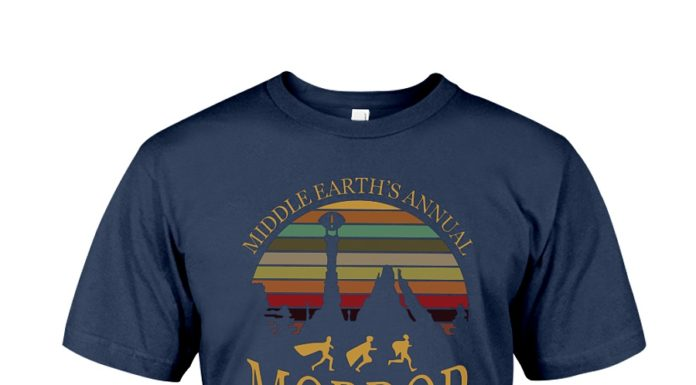 Middle earth's annual mordor fun run one does not simply walk vintage shirt