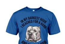 Pug dog in my darkest hour I reached for a hand and found a paw shirt