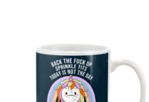 Unicorn back the fuck up sprinkle tits today is not the day I will shank you with my horn mug
