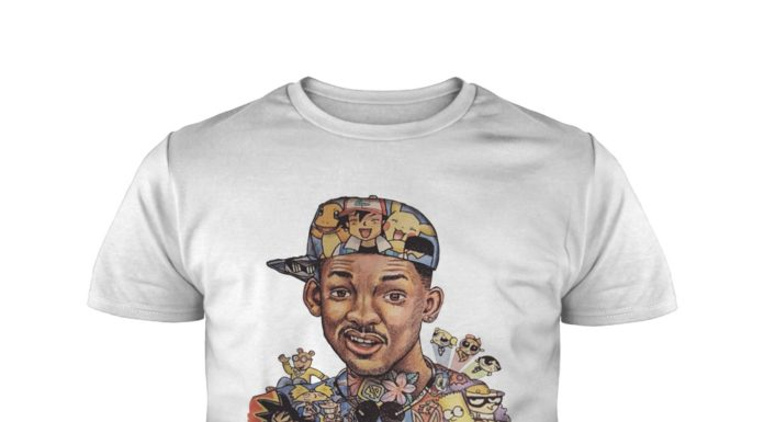 Will Smith with 90's cartoon characters shirt