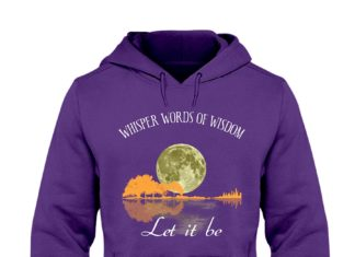 Guitar moon whisper words of wisdom let it be shirt