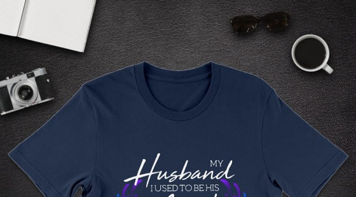 My husband I used to be his angel now hes mine shirt