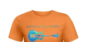 Guitar whisper words of wisdom let it be nature shirt