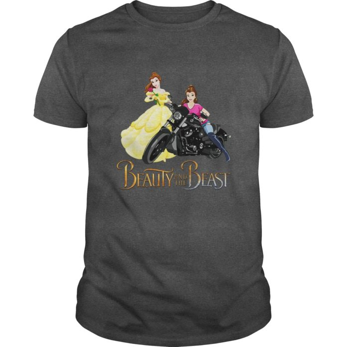 Motorcycle Belle Beauty and the Beast shirt