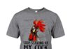 Stop staring at my cock Chicken Rooster shirt