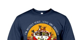 Yoga Girl I'm mostly peace love and animals a little go fuck yourself shirt