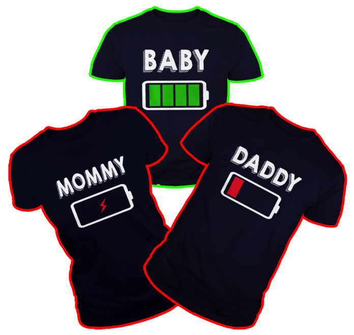Baby Daddy Mommy Battery shirt