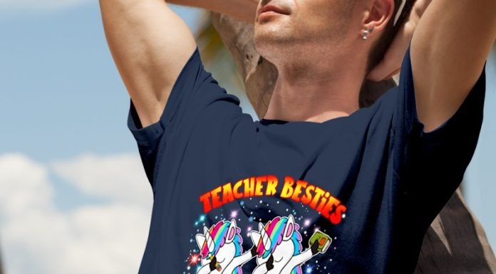 Dabbing Unicorn Teacher Besties Because Going Crazy Alone Is Just Not As Much Fun shirt