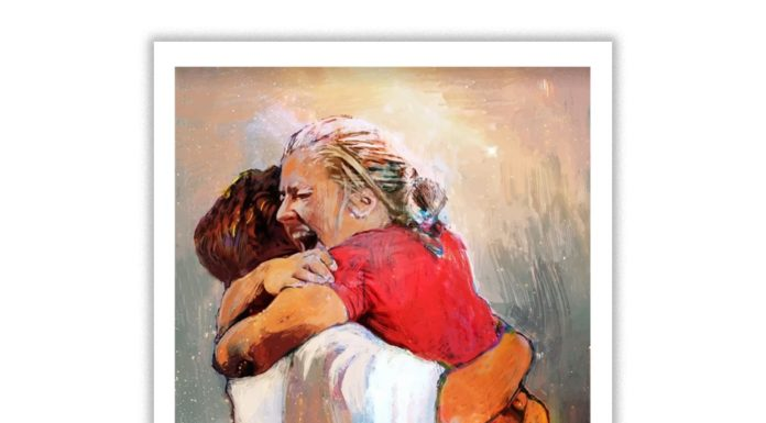 First Day In Heaven Painting Poster