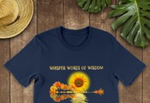Guitar Sunflower Whisper Words Of Wisdom Let It Be shirt