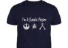 I'm simple person love Star Wars Resistance Star Trek and Stargate Earth Glyph shirt