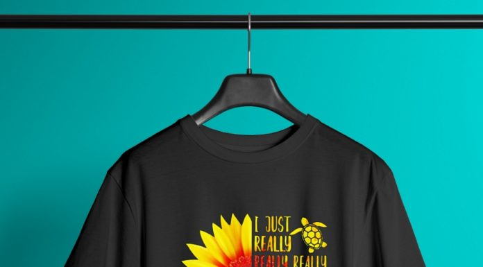 Sunflower I Just Really Really Love Turtles shirt