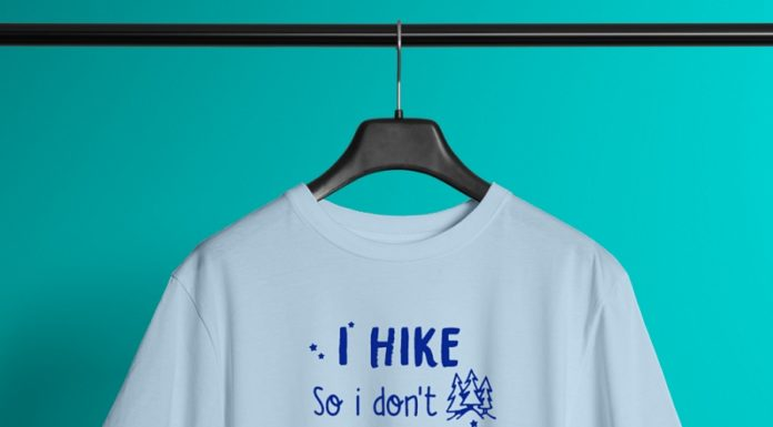 I hike so I don't punch people in the throat shirt
