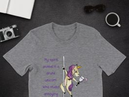 My Spirit Animal Is A Drunk Unicorn Who Stabs Annoying People shirt