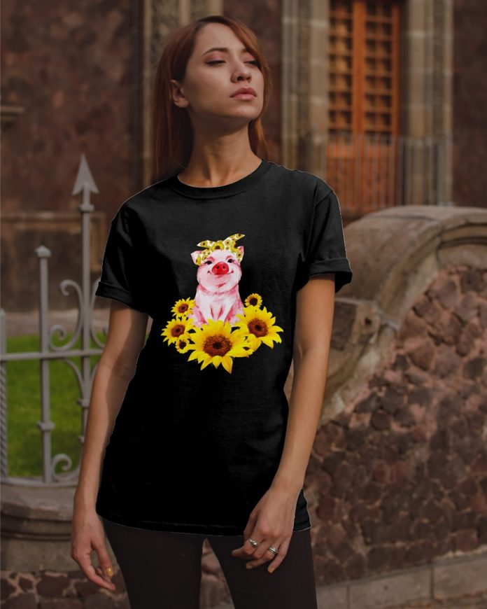 Pig with Sunflower shirt
