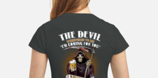 The Devil Whispered To Me I'm Coming For You I Whisper Back Bring Captain Morgan shirt