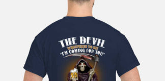 The Devil Whispered To Me I'm Coming For You I Whisper Back Bring Crown Royal shirt