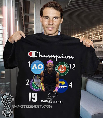 19th grand slam champion rafael nadal signature shirt