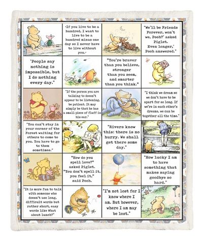 All favourite quote winnie the pooh blanket