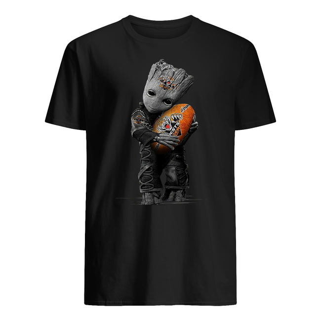 Baby groot hugging wests tigers shirt