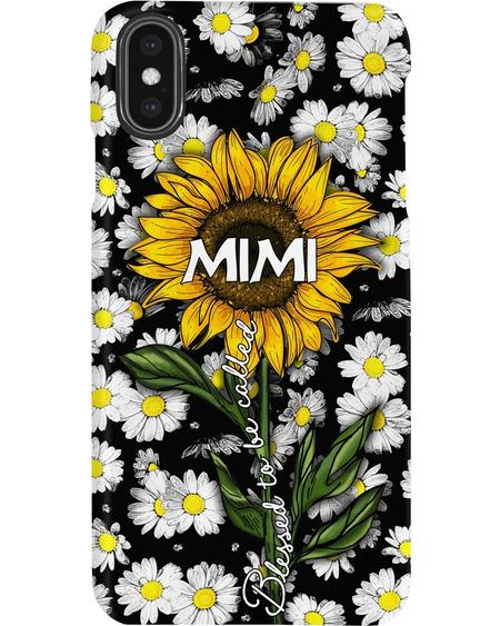 Blessed to be called mimi sunflower phone case