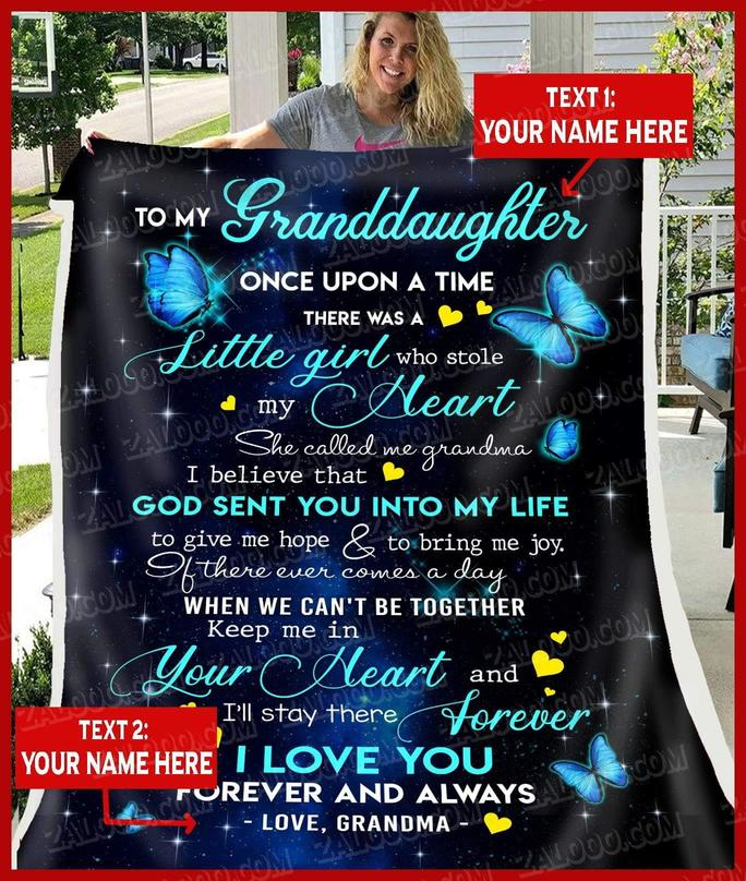 Butterfly to my granddaughter once upon a time there was a little girl blanket