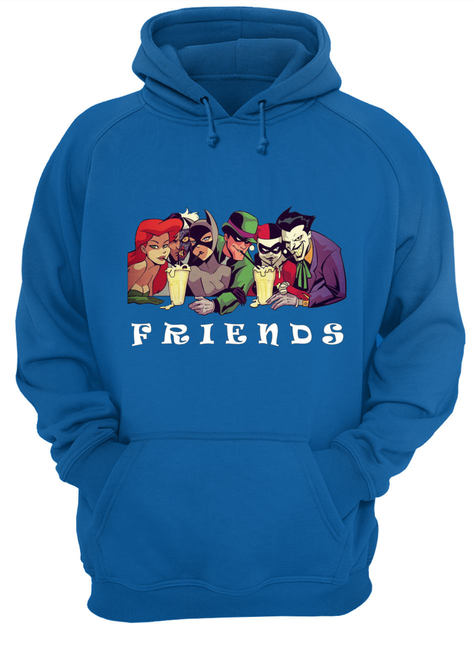 DC comics and disney characters friends shirt