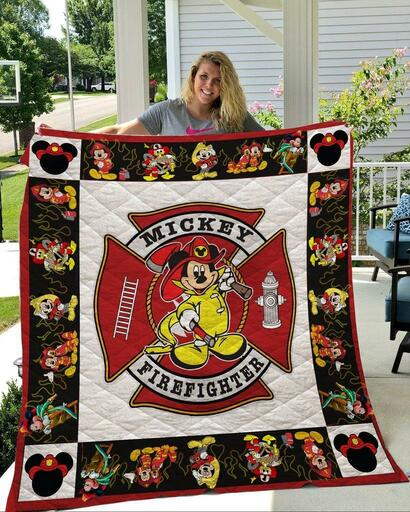 Disney mickey mouse firefighter blanket