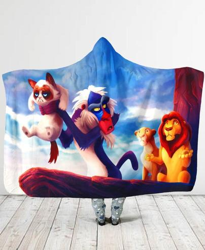 Disney the lion king grumpy cat blanket