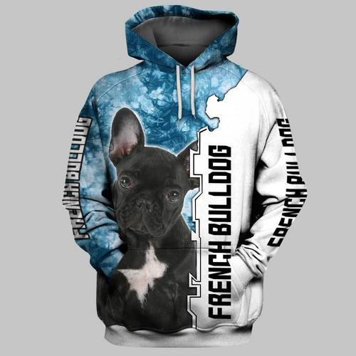 Dog french bulldog 3d hoodie