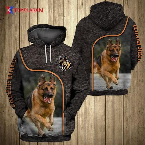 Dog german shepherd 3d hoodie
