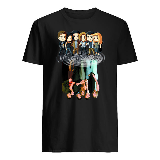 Friends tv characters chibi water reflection shirt